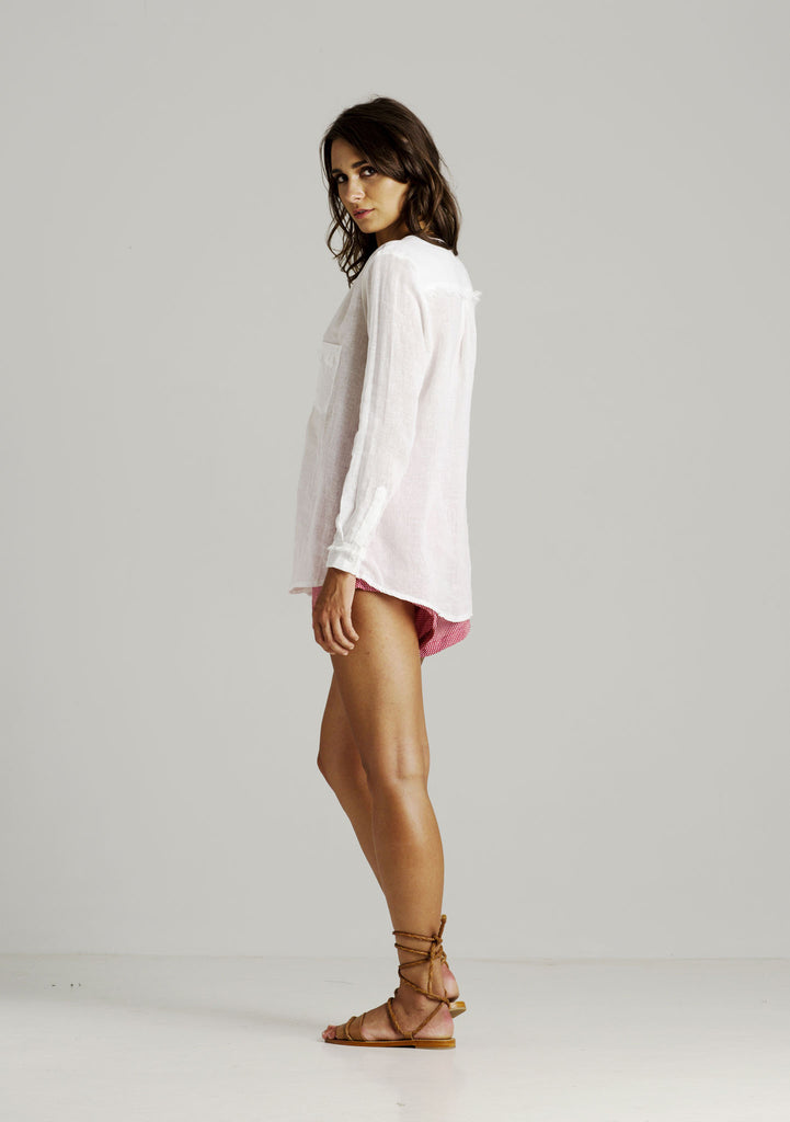 Rue Stiic Kate V Neck Shirt - Back View