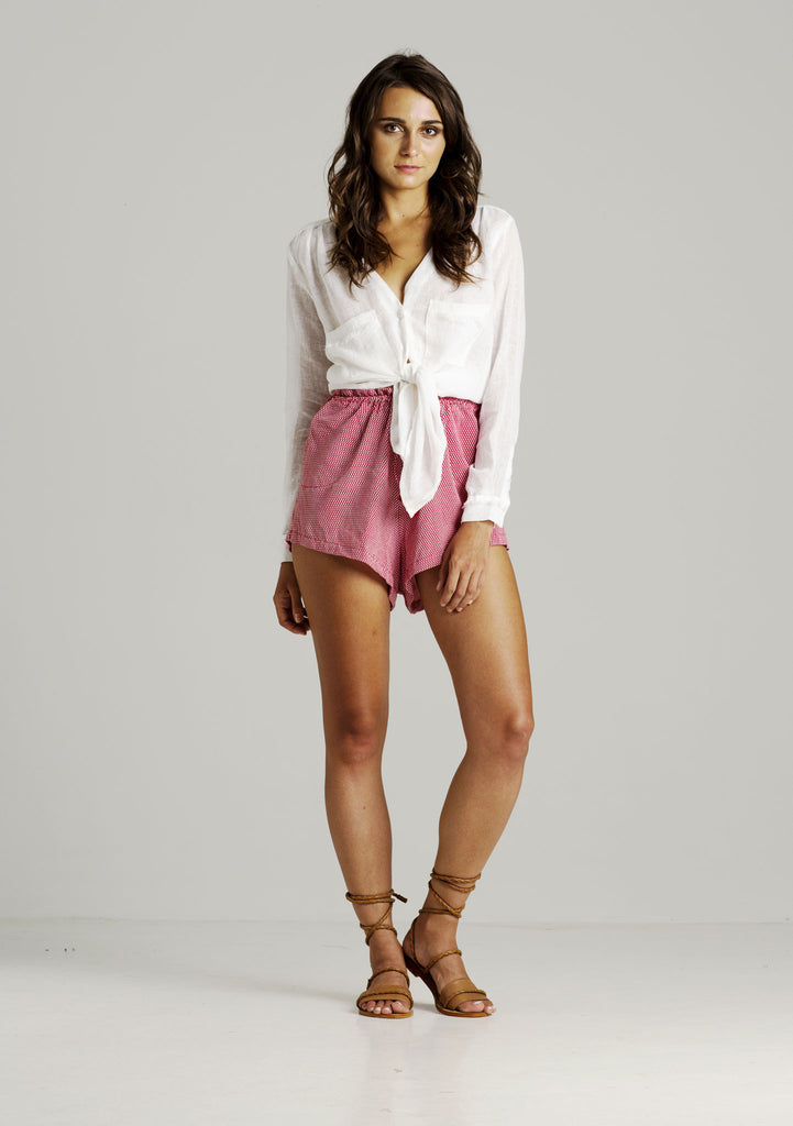 Rue Stiic Kate V Neck Shirt - Front View