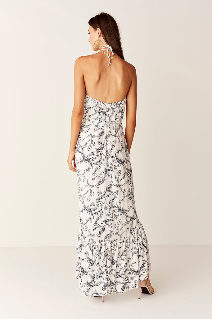 Suboo Verona Halter Maxi Dress Back View