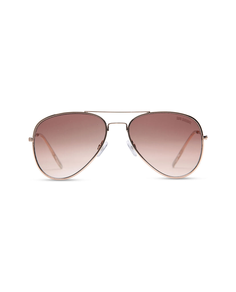 Supa Sundays Aviator Sunglasses - Bronze Sunglasses - Front View