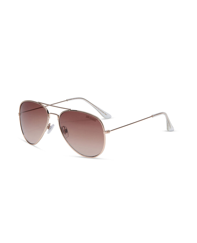 Supa Sundays Aviator Sunglasses - Bronze Sunglasses - Back View