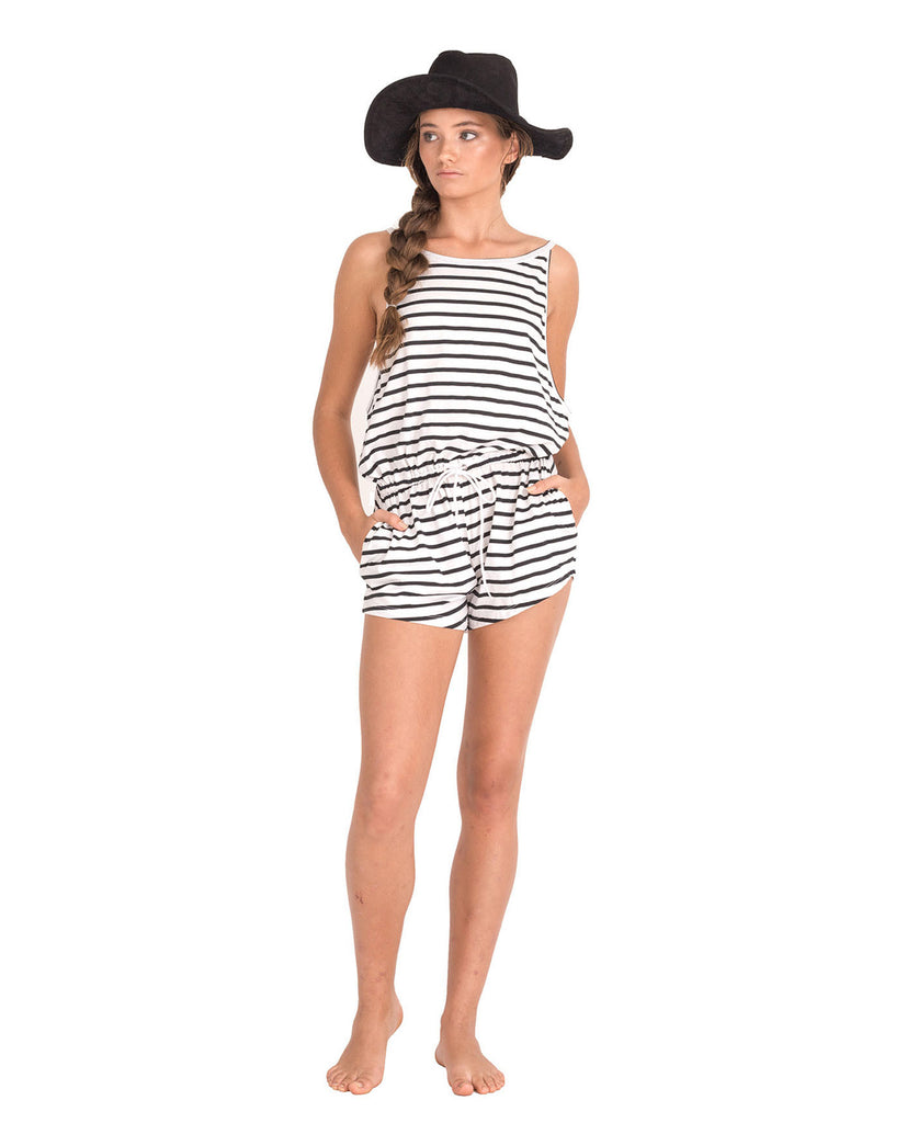 The Bare Road Classic Stripe Playsuit || The Bare Road || Playsuits - View 1