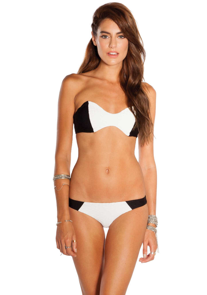 Azalea Quilted Skimpy Bikini Pant from Amuse Society - Front View