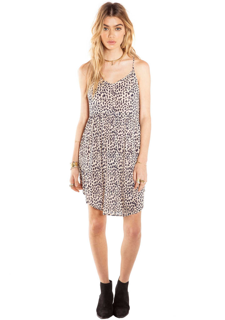 Amuse Society Daria Dress Leopard - Animal Print Dress - Front View