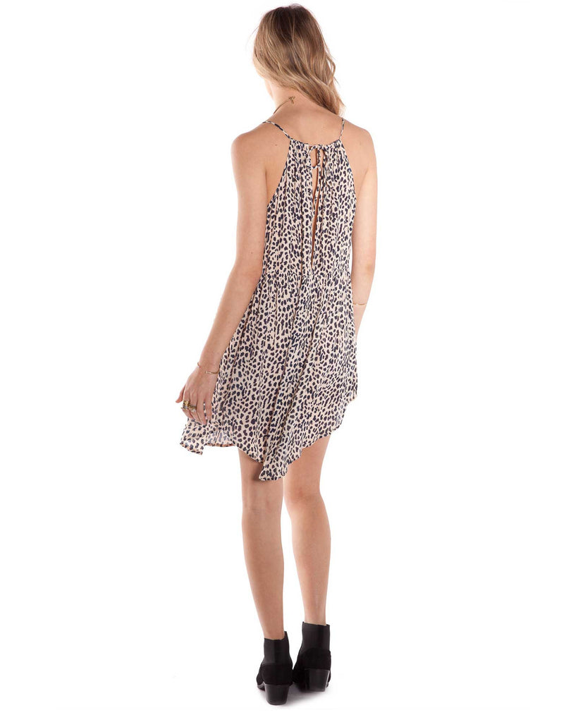 Amuse Society Daria Dress Leopard - Animal Print Dress - Back View