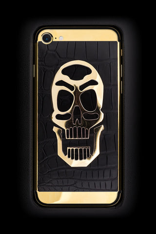 skull gold badass iphone