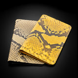 Card holder - Yellow Python