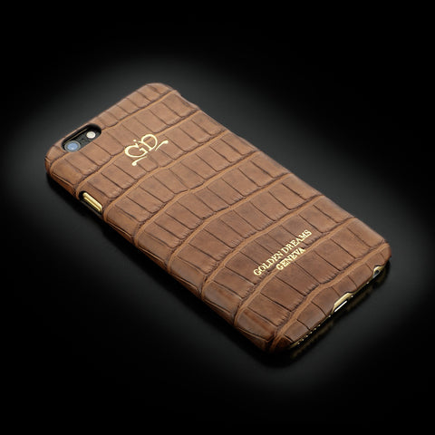 Clip-on Case - Brown Alligator