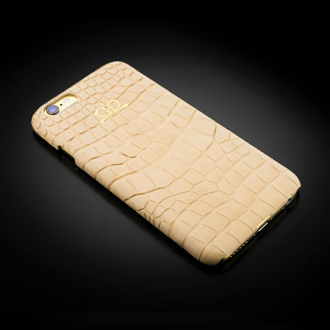 Clip-on Case - Beige Alligator