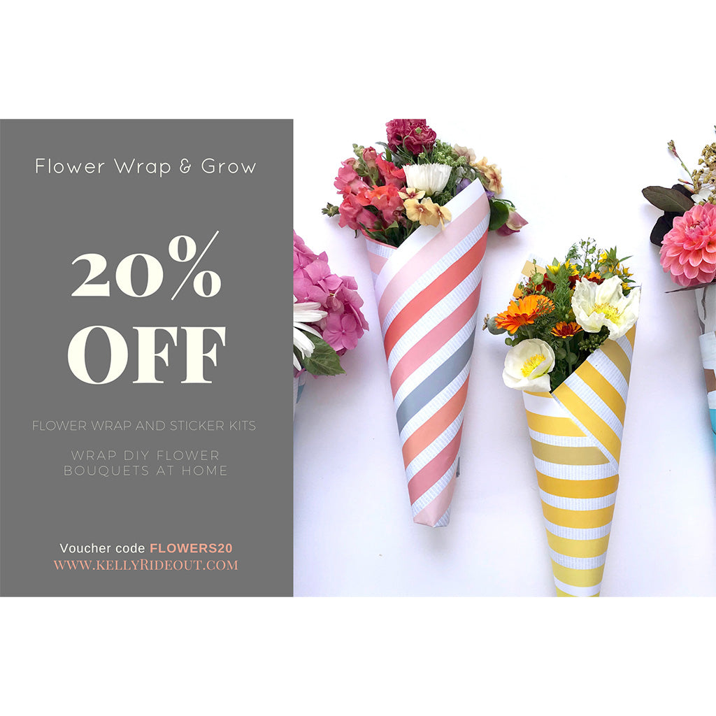 20% Off Flower wrapping paper