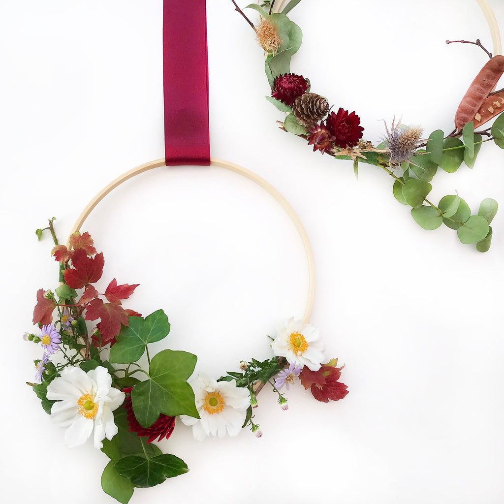 DIY Floral Wreath Asymmetrical Tutorial