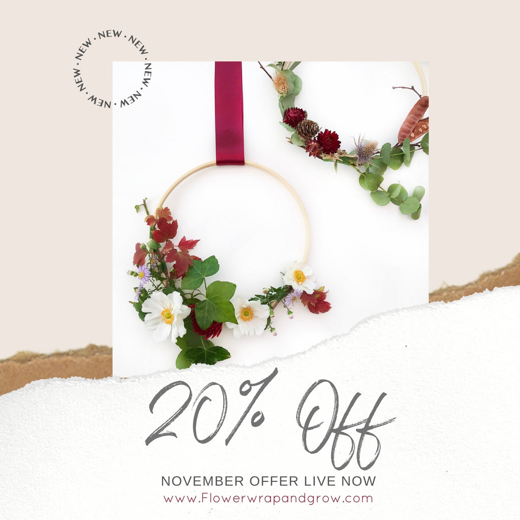 20% Off Floral Wreath Kits Now