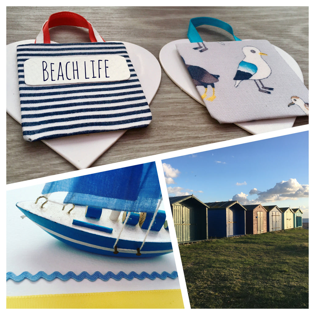 Hayling Island Beach Huts and Handmade Bag Art