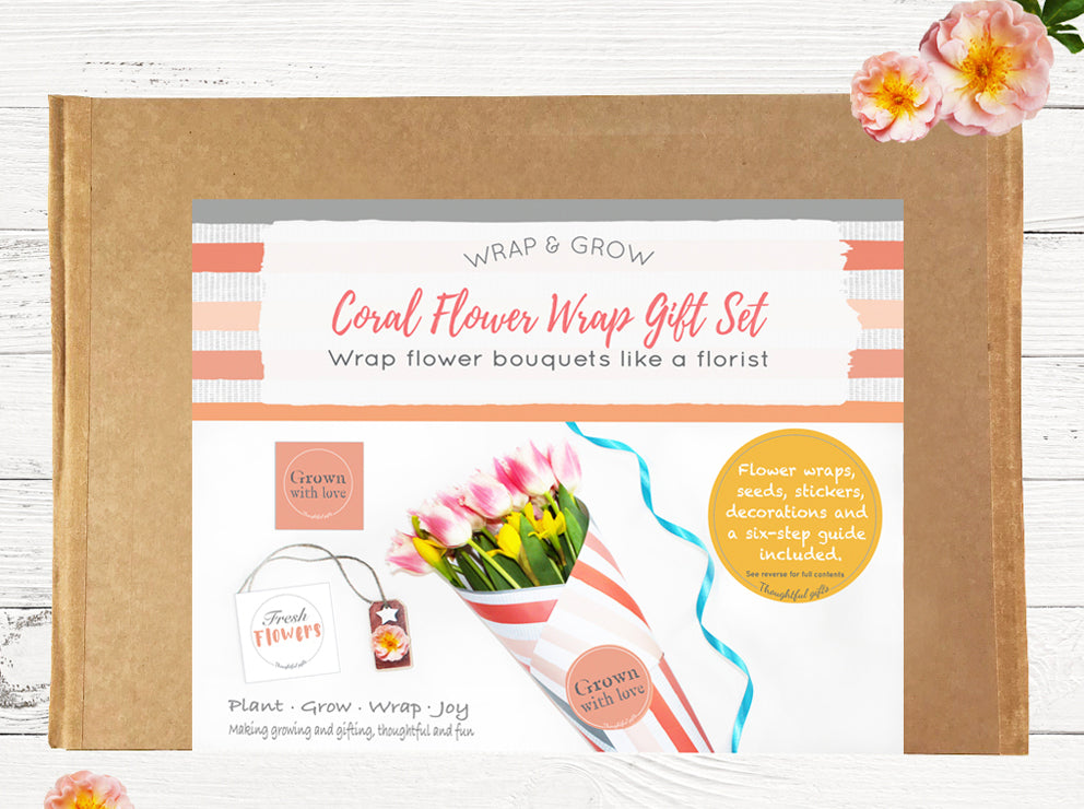 Wrap and Grow - Flower Gift Sets With Seeds