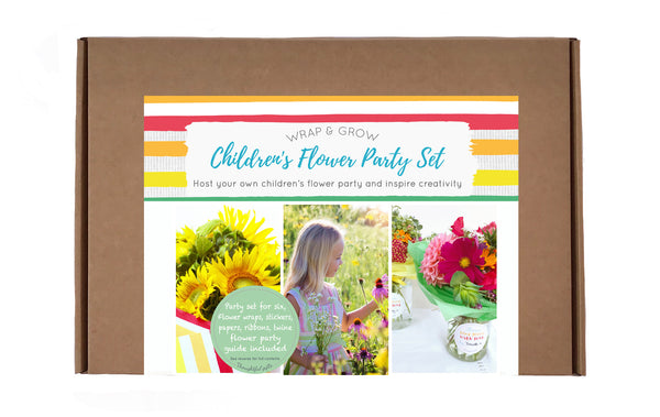 Flower Party Wrapping Gift Set