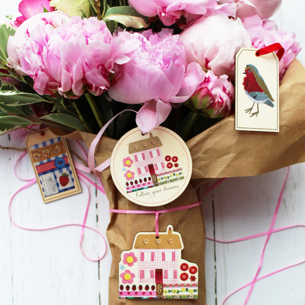 Flower Luxury Wooden Gift tags