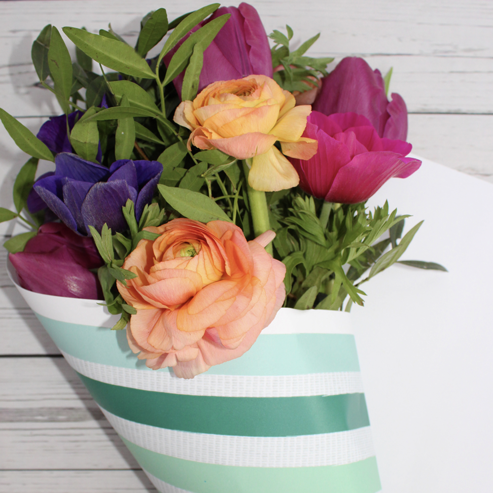 DIY Eco-friendly Flower wrap in six step guide