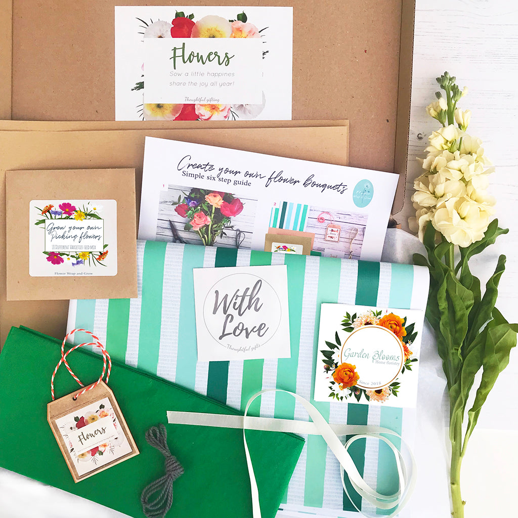 Flower seeds Grow and Wrapping Kit