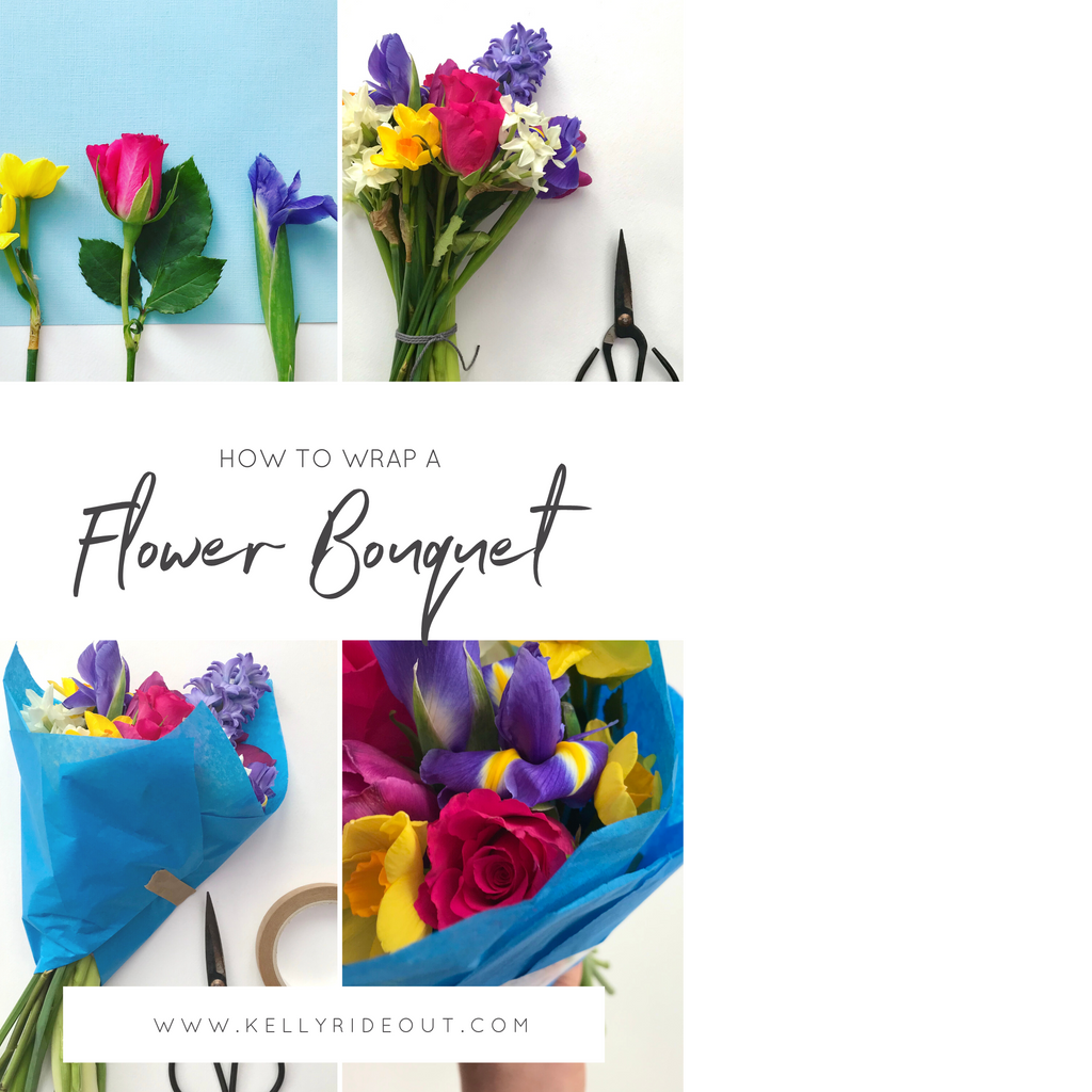 How To Wrap A Flower Bouquet - DIY Florals