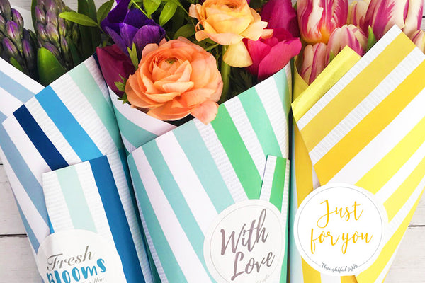 Flower Wrap and Grow Cut Flower Bouquets DIY