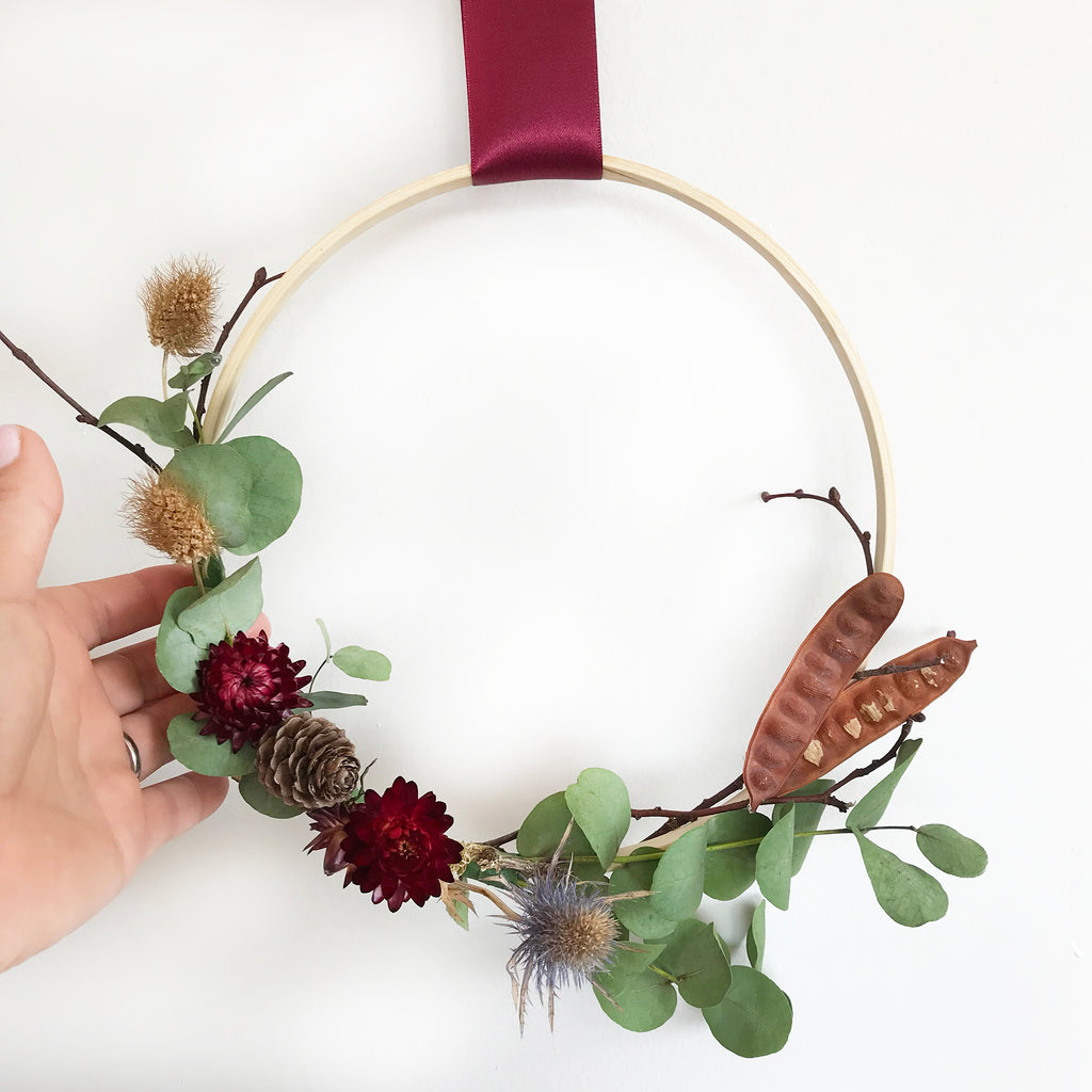 DIY Season Wreath Hoop