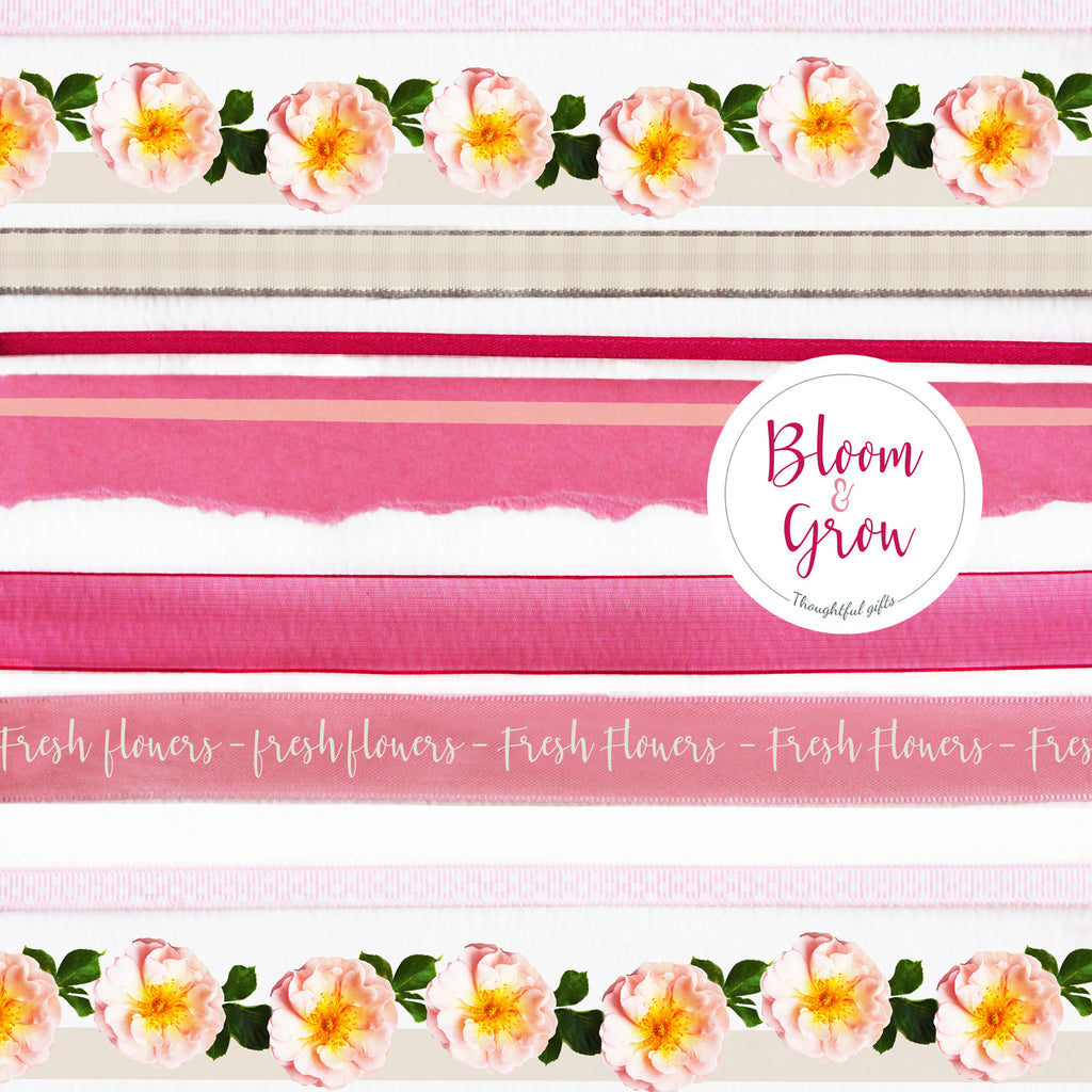 Bloom Bouquet Flower Wrap and Stickers Set - Kelly Rideout Design