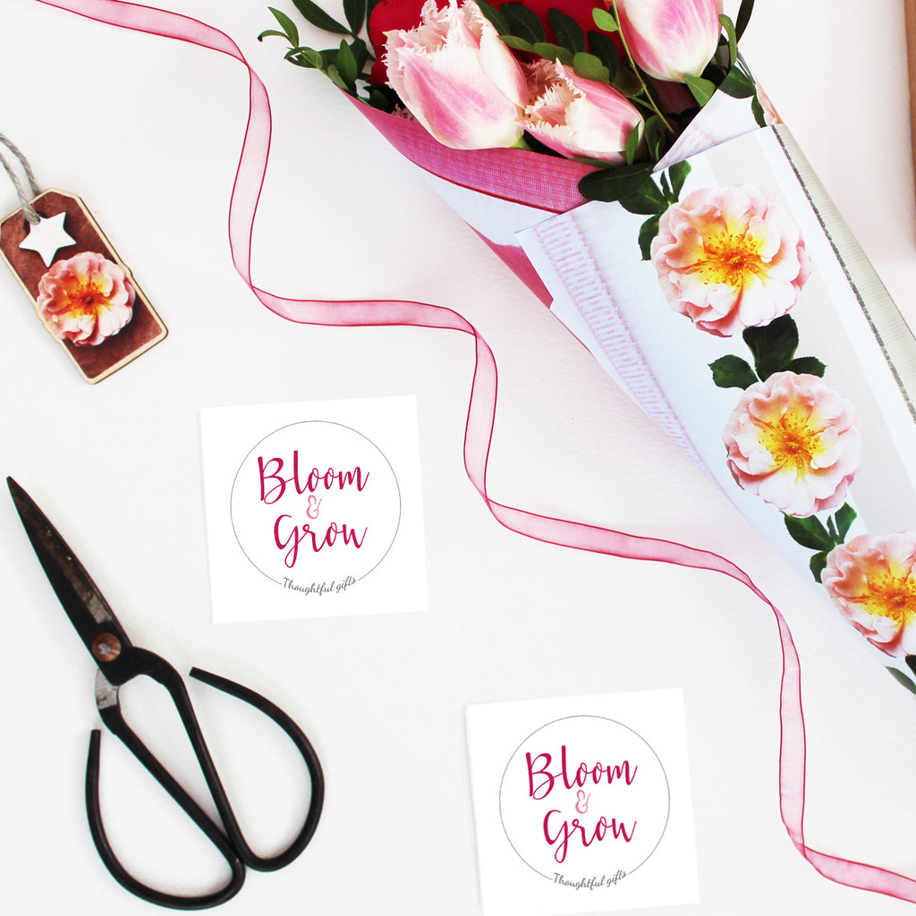 Bloom and Grow Bouquet Flower Wrap and Stickers Set