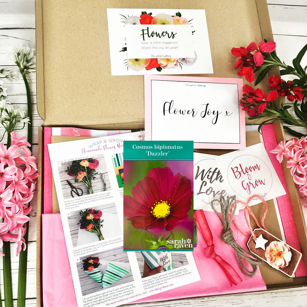 Grow Your Own Cosmos Flowers and Wrapping Set