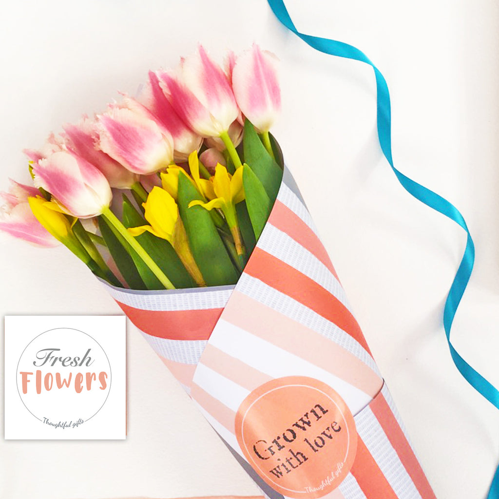 Coral Flower Wrap and Stickers Set - Kelly Rideout Design