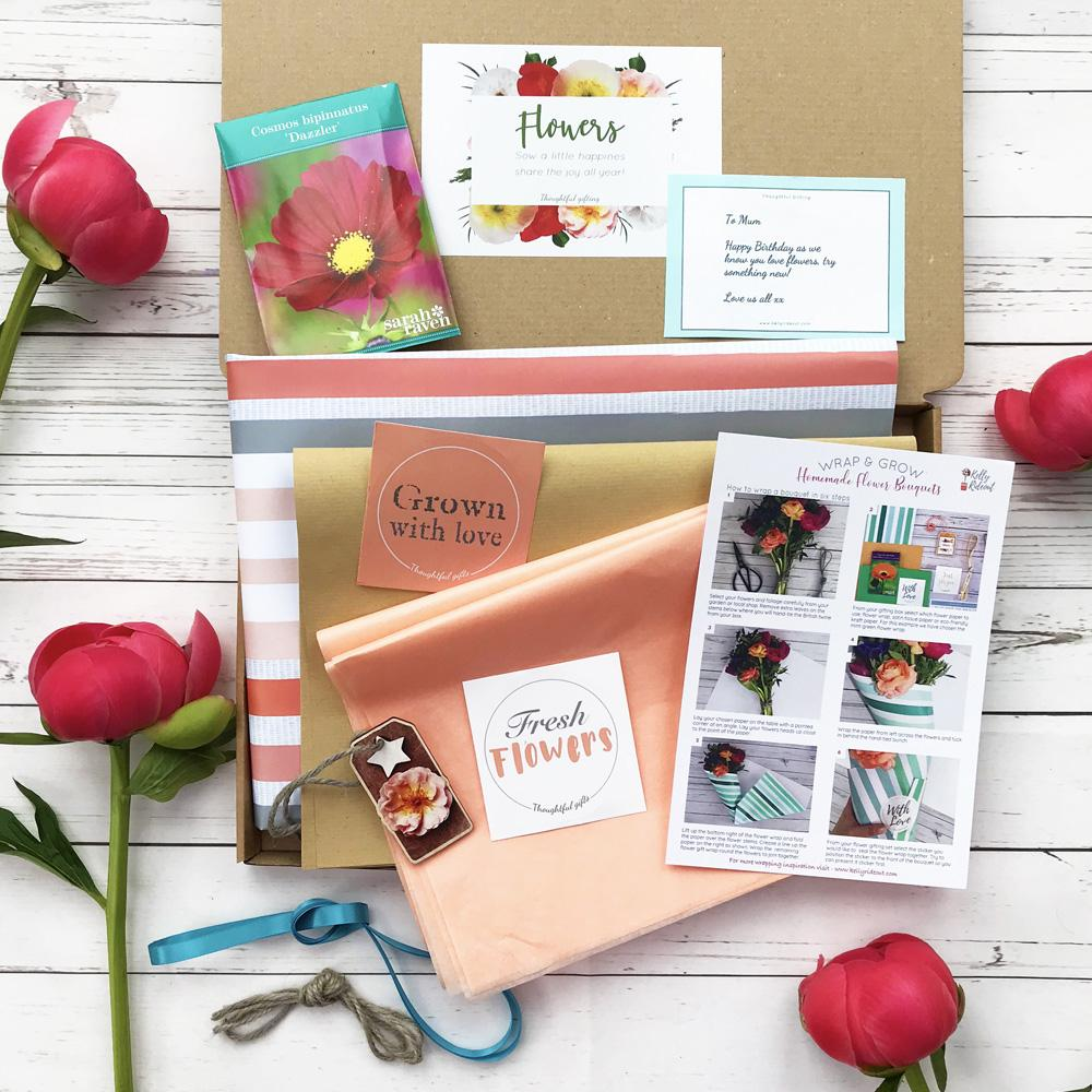 Coral Flower Wrap and Home florist kit