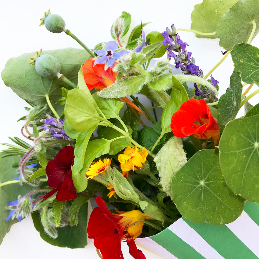 Edible Flower Bouquet From The Garden