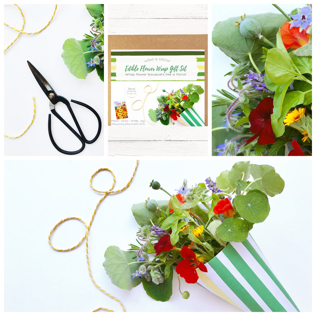 Edible Flower Wrap & Grow Kit - DIY Flowers