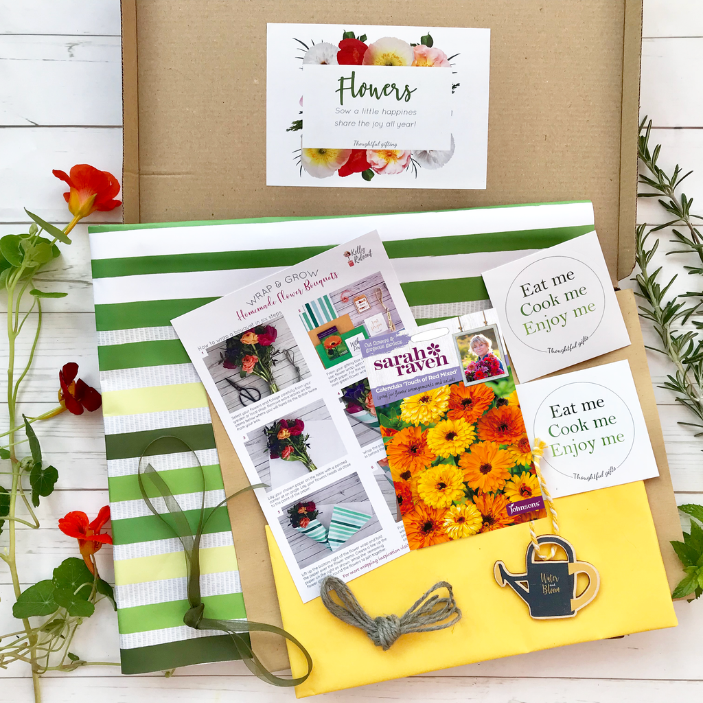 Edible Flower Wrapping Set - Wrap & Grow