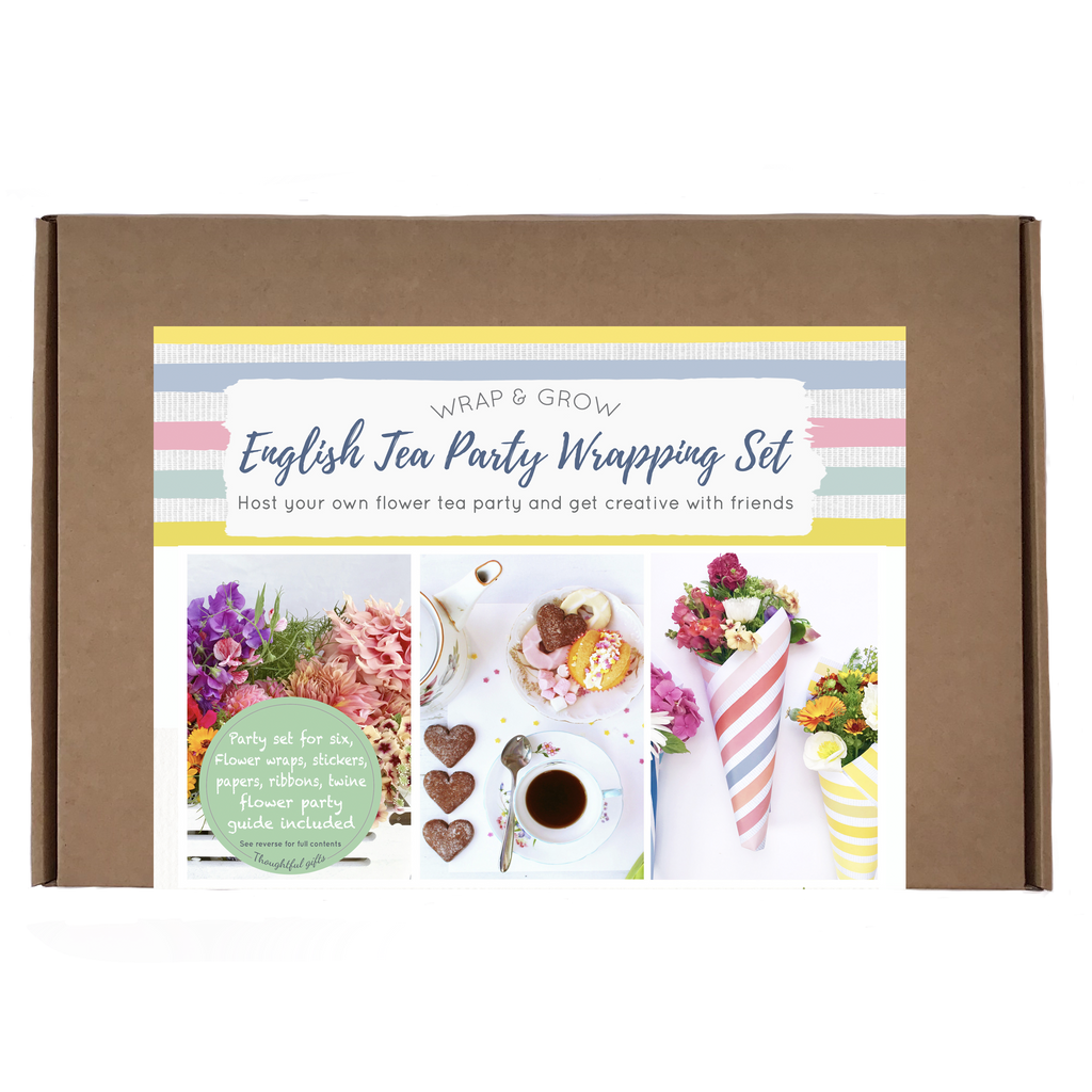 English Flower Tea Party Flower Wrapping Set