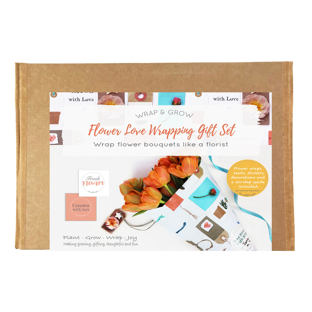 Flower Love Gift Set - Create Your Own Flower Bouquets - Flower Wrap and Grow