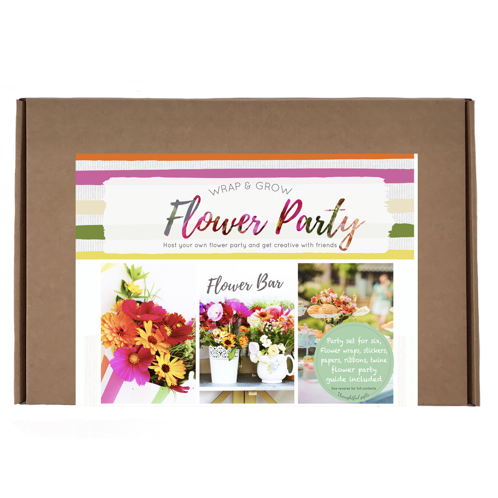 Flower Party Garden Set - Flower Wrap and Grow