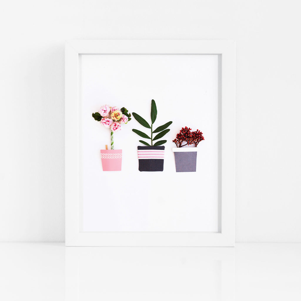 Flower Show Flora Art Print - Kelly Rideout Design