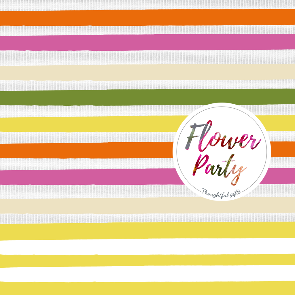 Flower Wrapping Paper with Flower Party Sticker