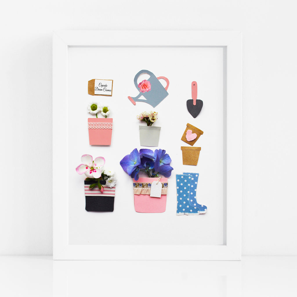 Garden Tools and Flower Pots Prints - Kelly Rideout Design