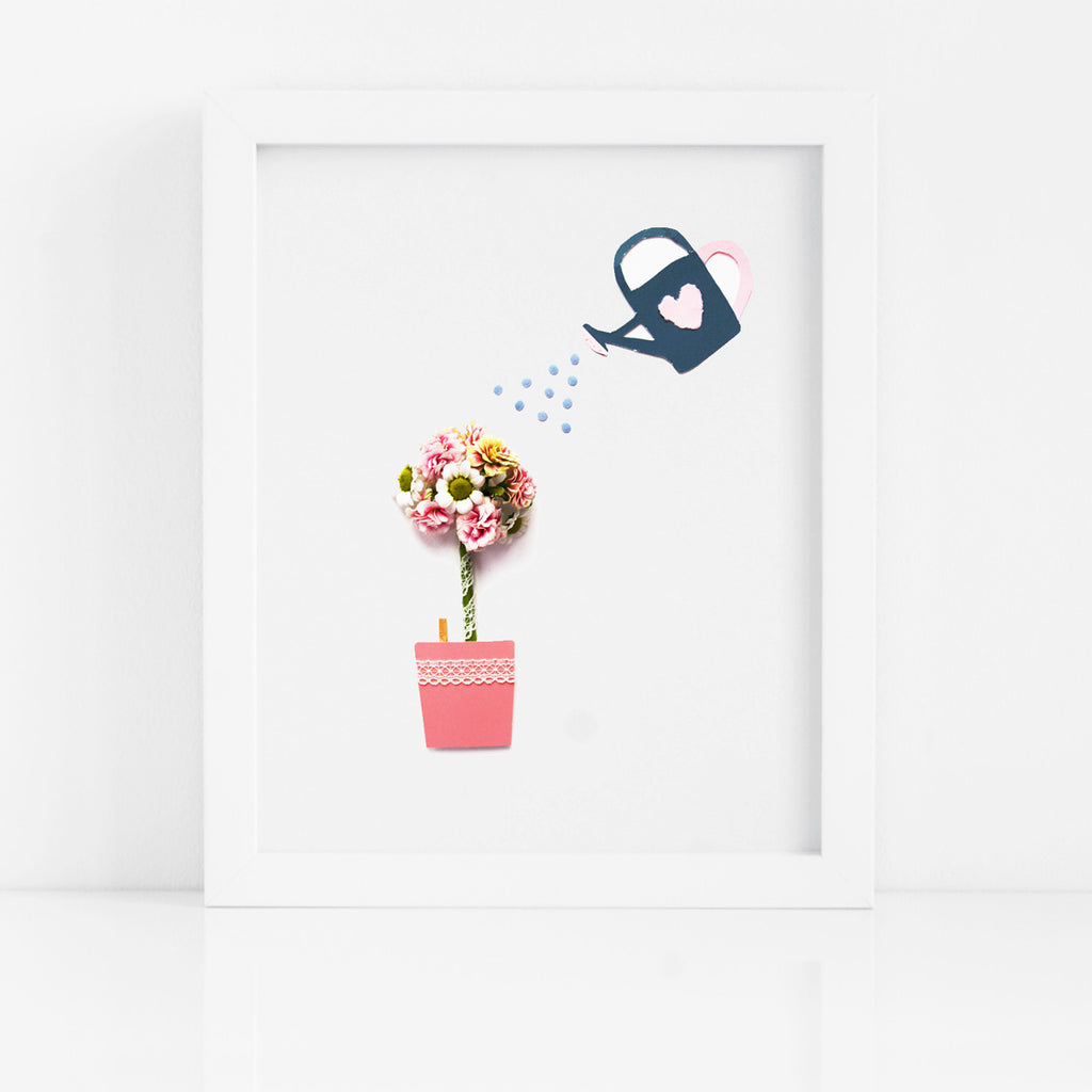 Gardener's Work Flower Art Print - Kelly Rideout Design