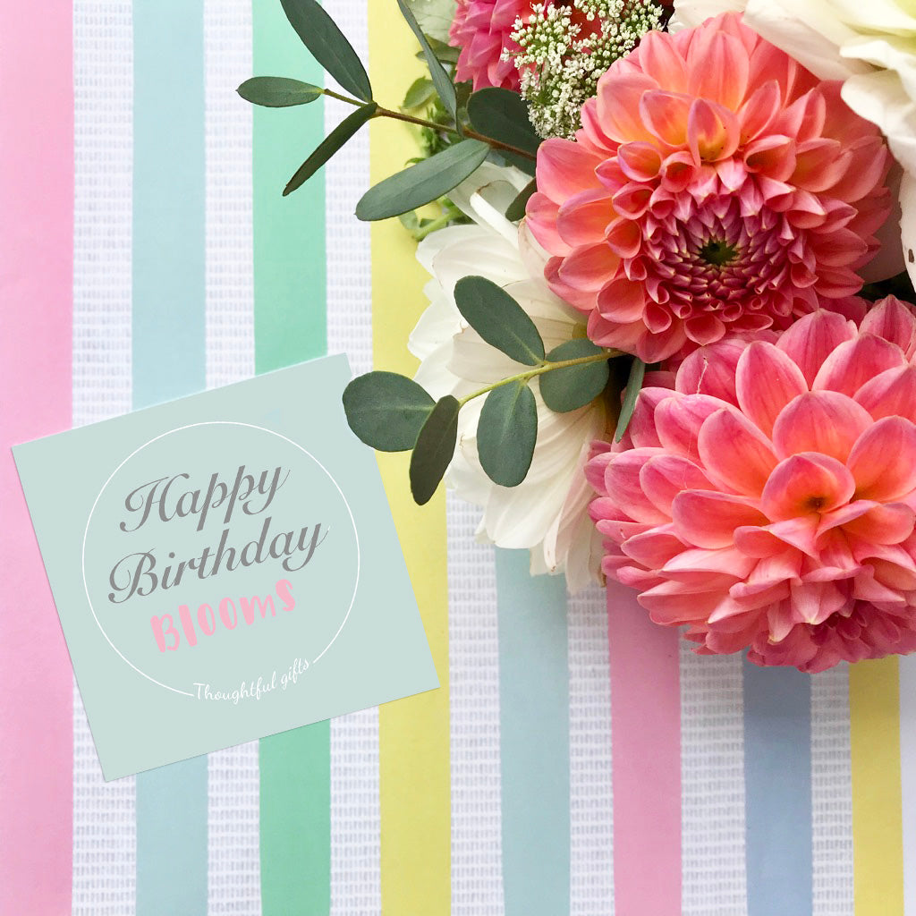 Happy Birthday Flower Wrapping Paper UK