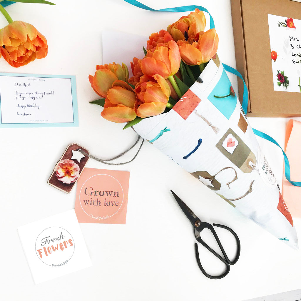 Cut Flower Wrap and Seeds Gifting Set - Create Homemade Flower Arrangements - Kelly Rideout Design