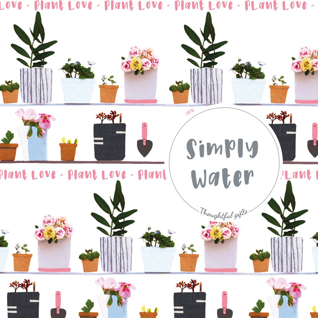 Plant Love Gift Wrap and Sticker Set - Gift Homegrown Plants - Kelly Rideout Design