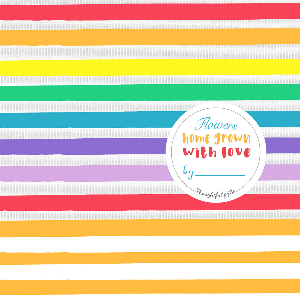 Rainbow Flower Wrap and Sticker Kit - Kelly Rideout Design