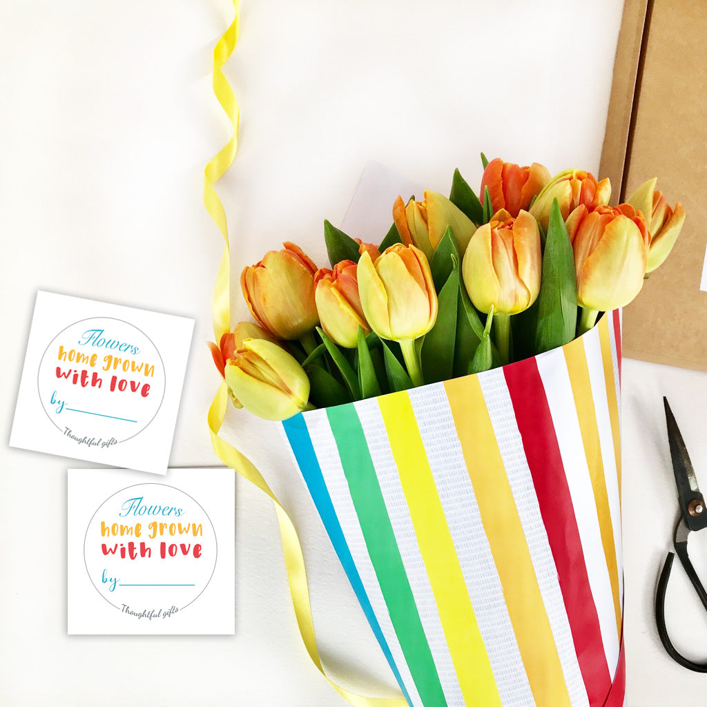 Childrens Tulip Bouquet - Mothers Day Homemade Gift ideas