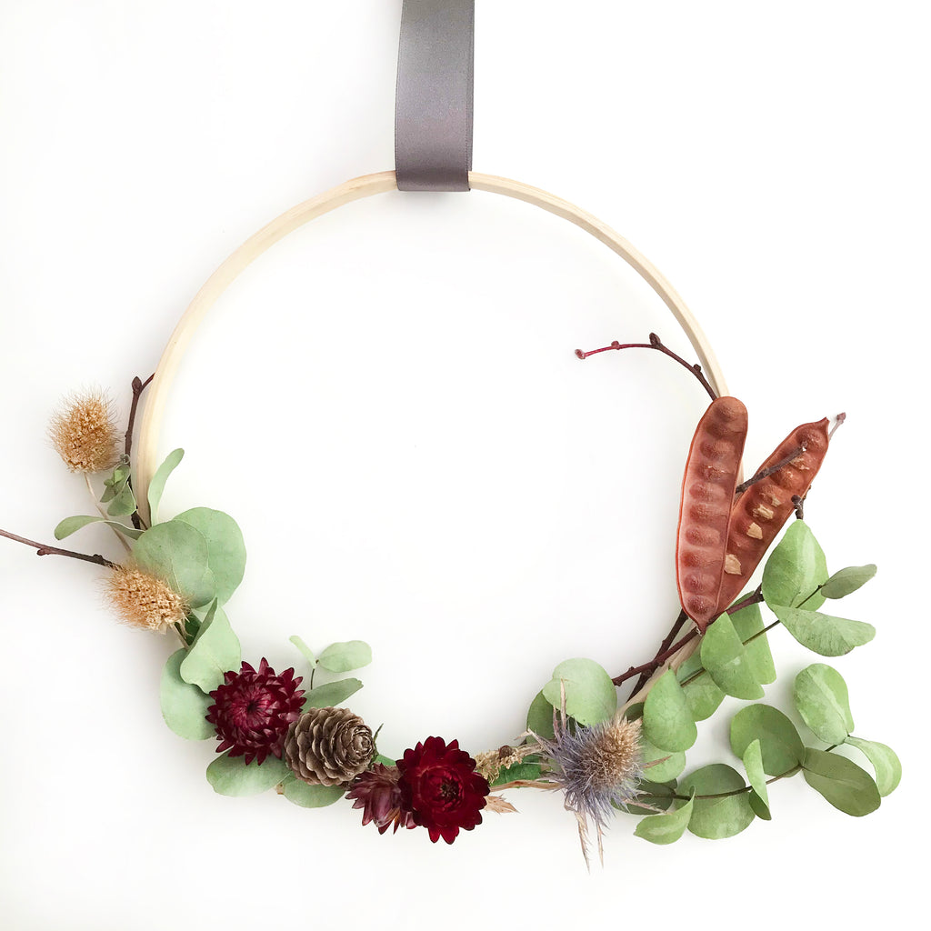 Floral Wreath DIY Kit 2 Pack 20cm and 23cm Hoops