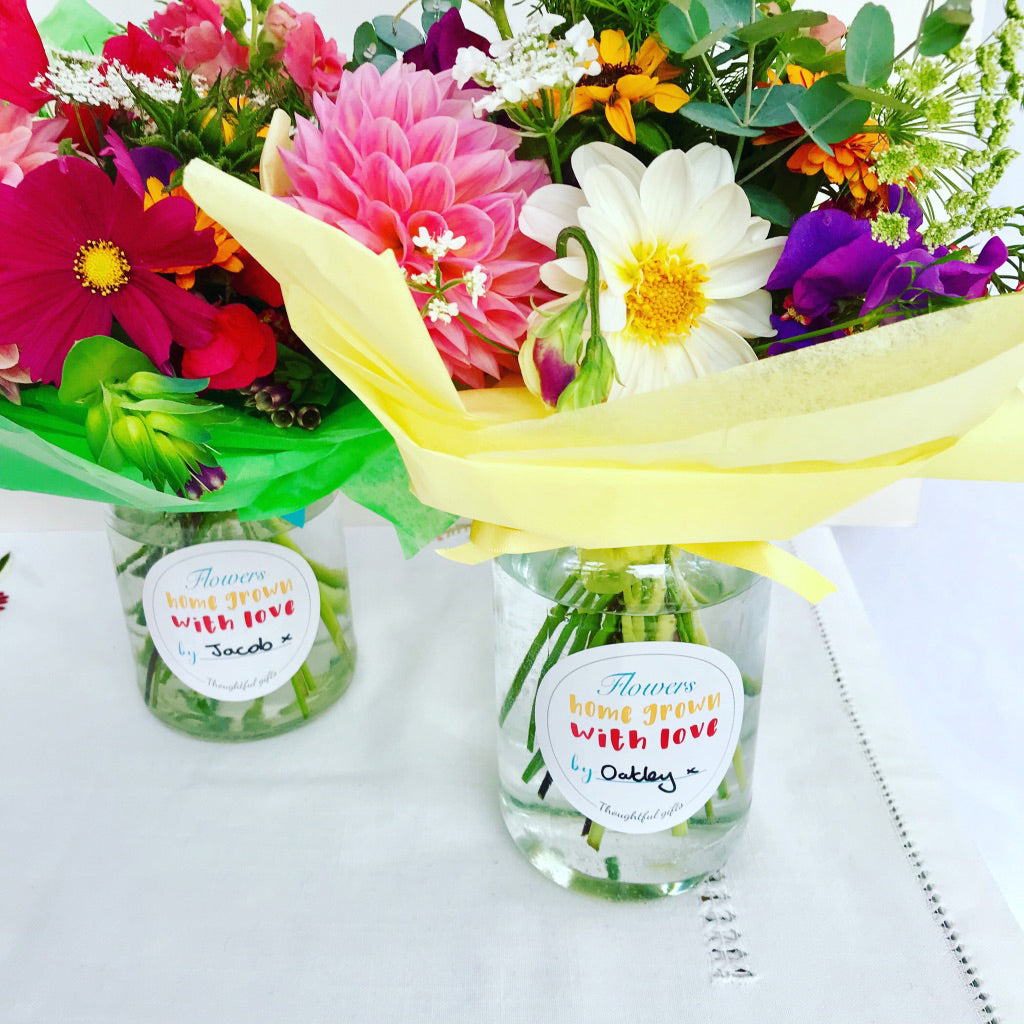 Children Make Flower Teacher Gifts