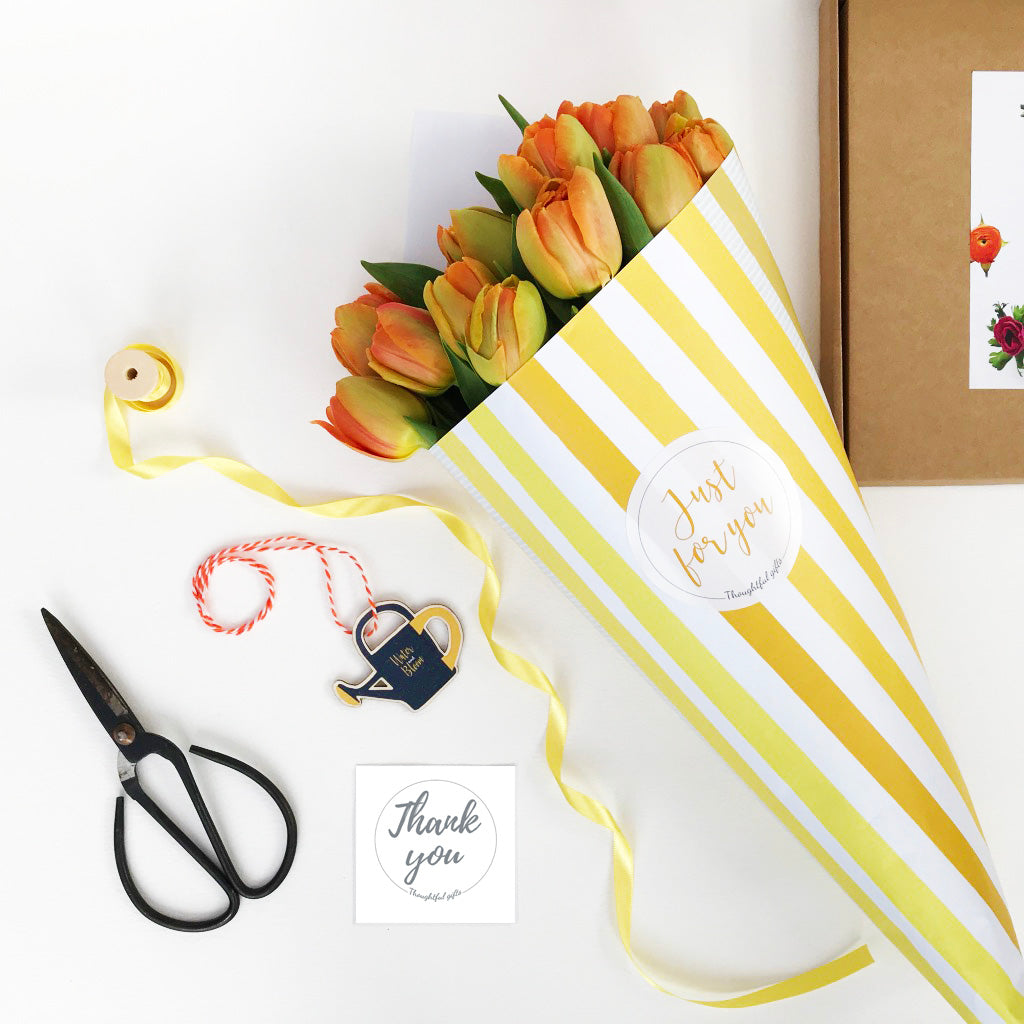 Thank You Flowers Wrapping Gift Set - Kelly Rideout Design