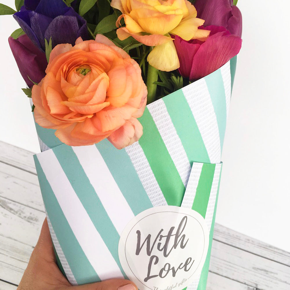 Cut Flower Wrap & Grow Gift Set - Create Bouquets From Your Garden - Kelly Rideout Design