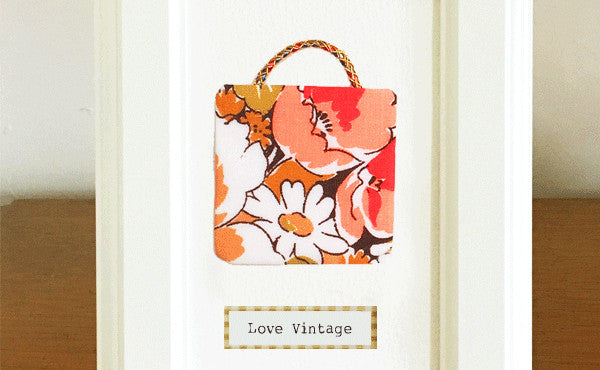 Love Vintage Bag Art Pictures
